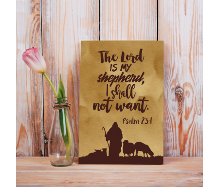 "Toile imprimée ""The Lord is..."