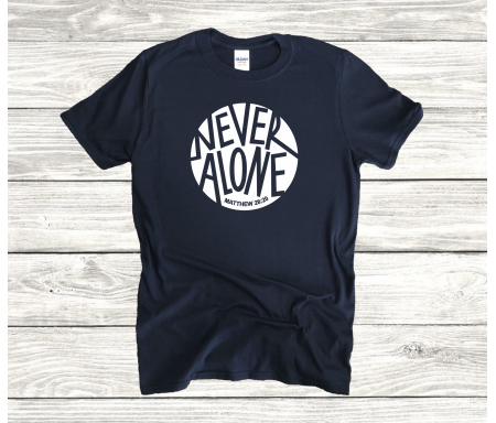 """T-shirt homme """"Never Alone""""..."""