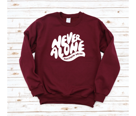 """Pull """"Never Alone"""" (bordeaux)"""